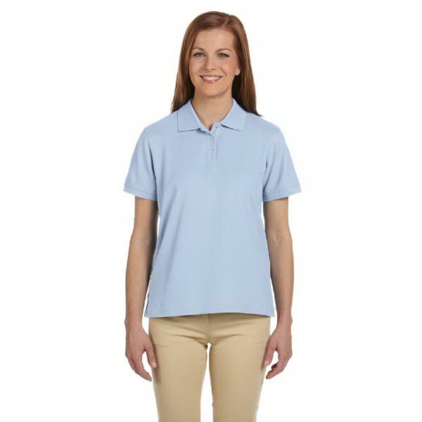 Imprinted Devon & Jones Ladies' Pima Pique Short-Sleeve Polo