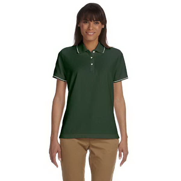 Promotional Devon & Jones Ladies' Pima Pique Short-Sleeve Tipped Polo