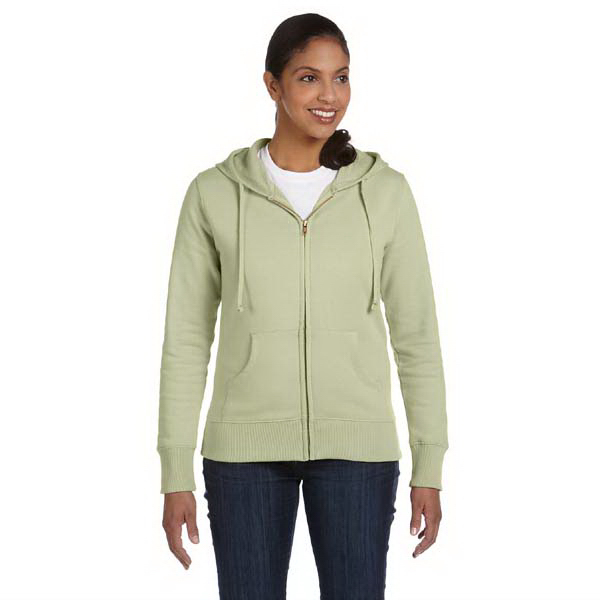 Custom Ladies' 9 oz. Organic / Recycled Full Zip Hood