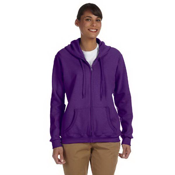 Imprinted Ladies' 7.75 oz. Heavy Blend (TM) 50/50 full zip hood
