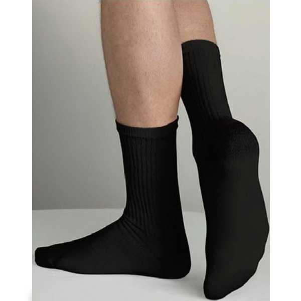Personalized Men's Black Crew Socks