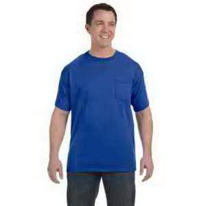 Printed Hanes 6.1 oz Tagless (R) ComfortSoft (R) Pocket T-Shirt