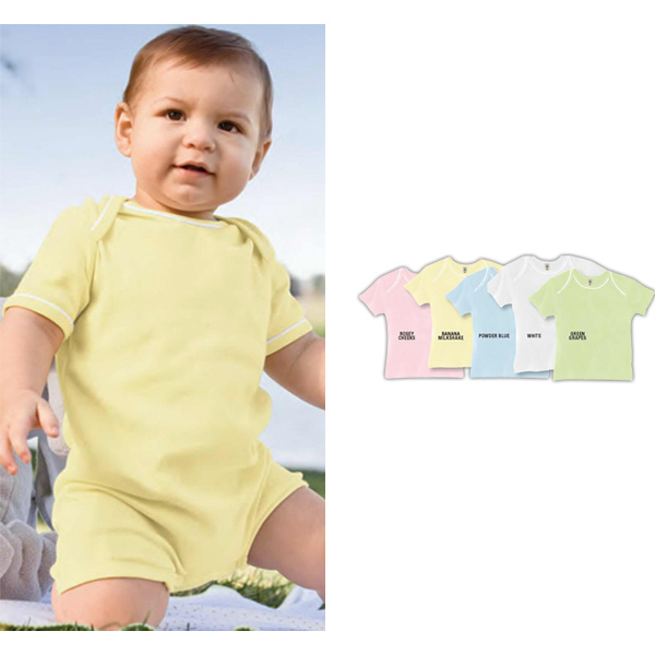 Printed Infant Andy 1x1 rib shortall romper