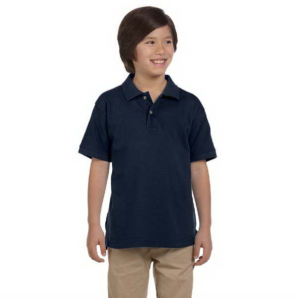 Customized Harriton Youth 6 oz. Ringspun Cotton Pique Short Sleeve Polo