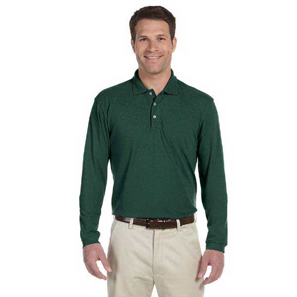 Promotional Harriton 5.6 oz. Easy Blend Long Sleeve Polo