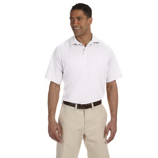 Printed Men's 3.8 oz. Polytech Mesh Insert Polo