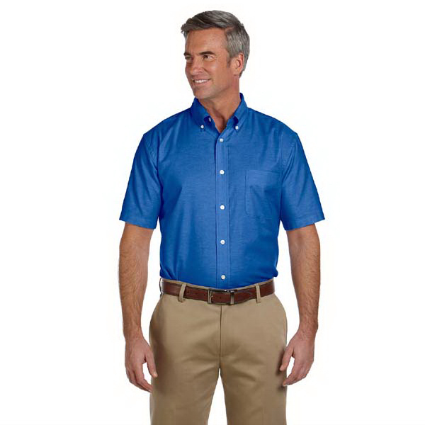 Customized Men's Short Sleeve Oxford with Stain Release