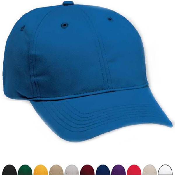 Imprinted Six Panel Structured Cotton Twill Cap