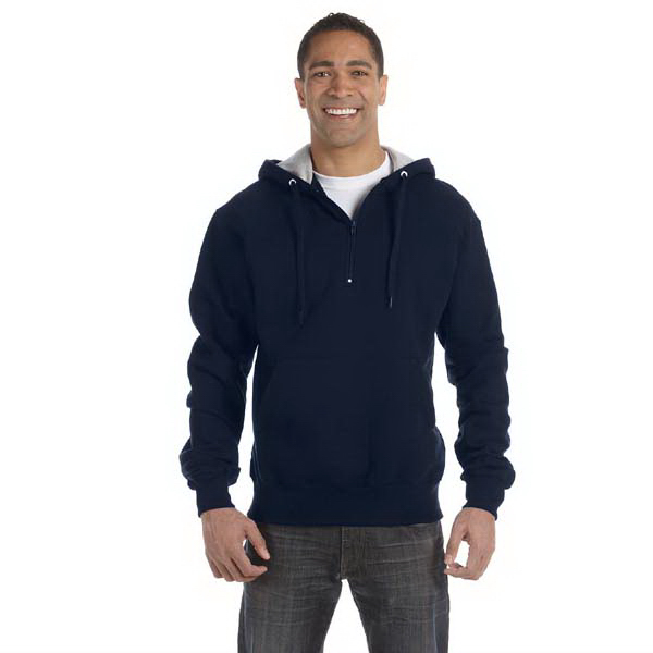 Custom 9.7 oz., 90/10 Cotton Max quarter-zip hood