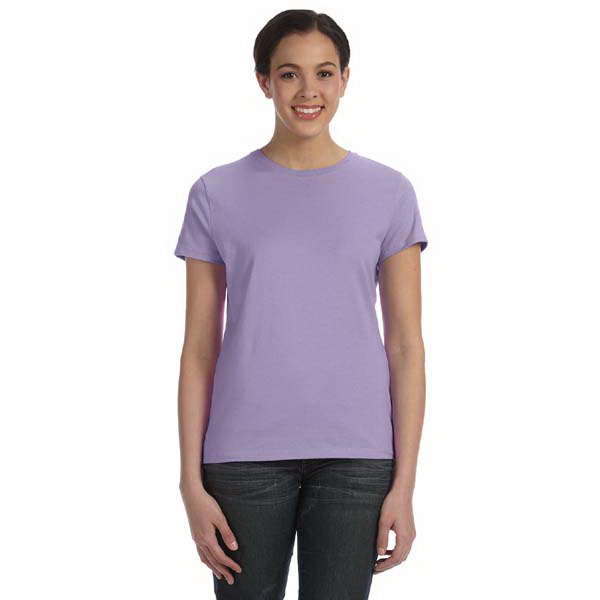 Customized Hanes Ladies' 4.5 oz 100% Ringspun Cotton Nano-T (R) T-Shirt
