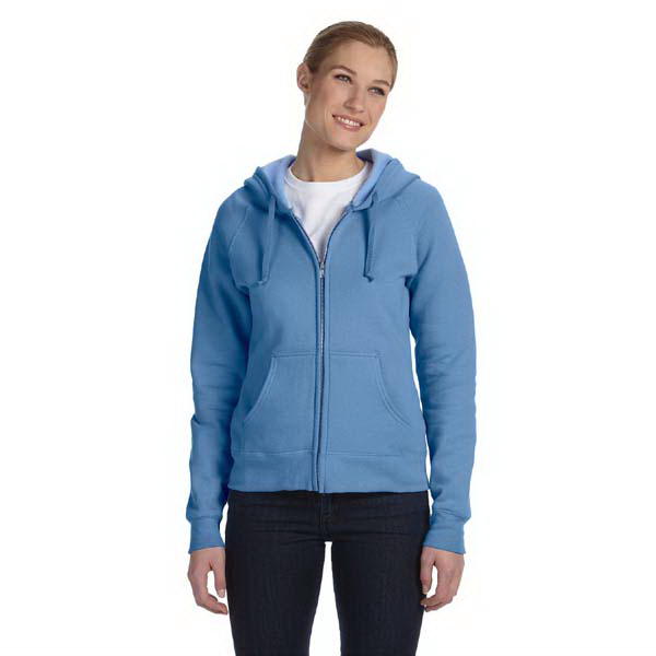 Printed Ladies' 80/20 ComfortBlend(R) EcoSmart(TM) Full Zip Hood
