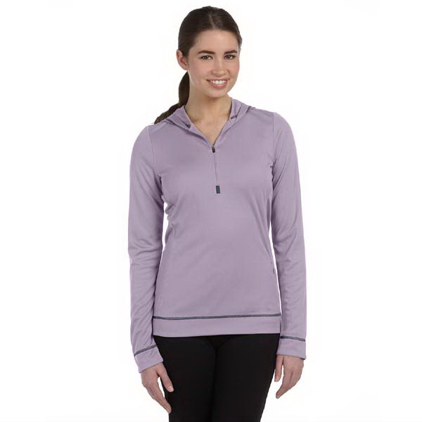 Personalized Ladies' 4.3 oz. long-sleeve half-zip pullover