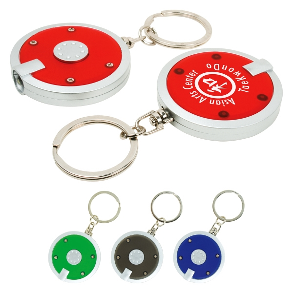 Custom Round LED Keychain