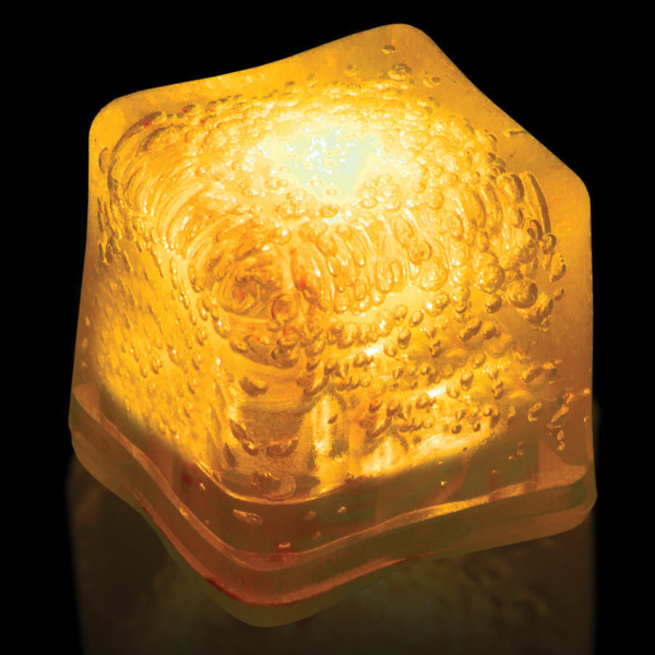 Promotional Yellow Light Up Premium LitedIce Brand Ice Cube