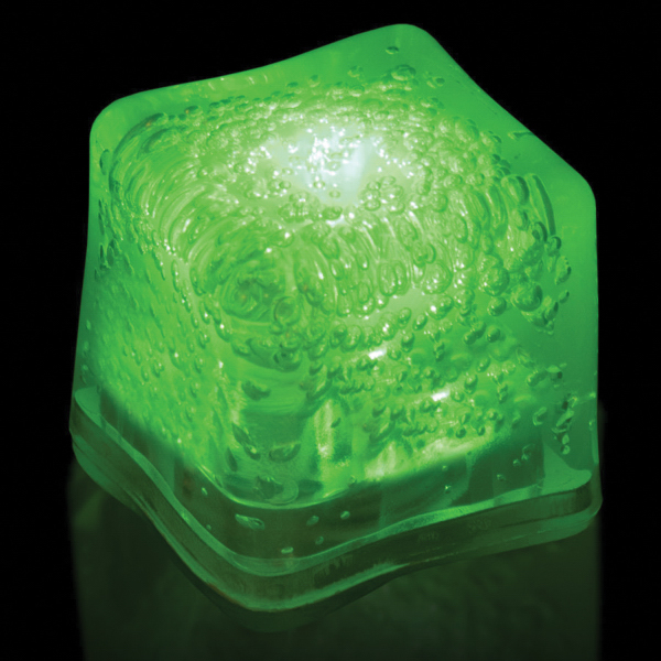 Promotional Green Light Up Premium LitedIce Brand Ice Cube