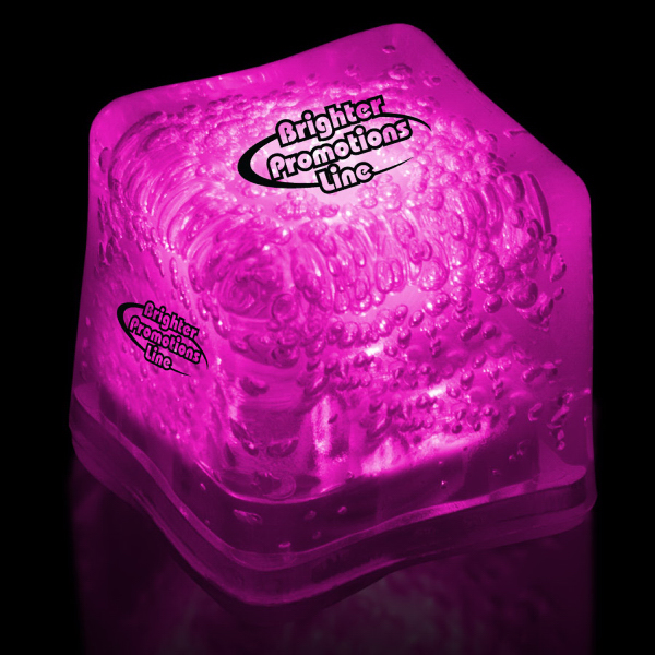 Personalized Pink Light Up Premium LitedIce Brand Ice Cube