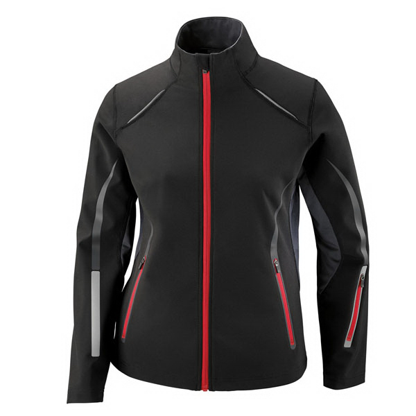 Printed Light Bonded Hybrid Soft Shell Jacket with Laser Perforation