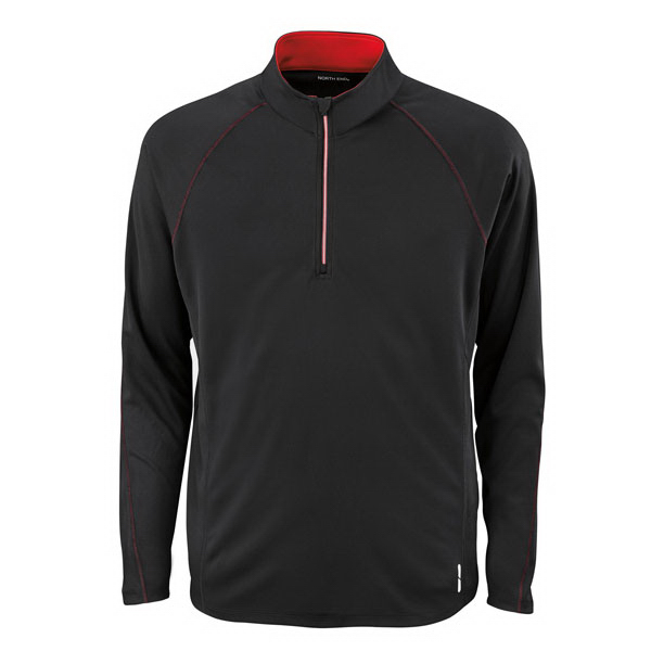 Personalized Men's North End (R) Half-Zip Performance Long Sleeve Top