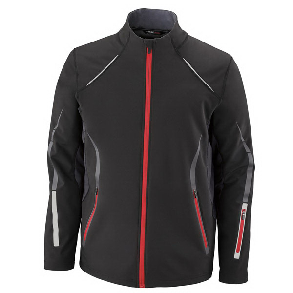 Customized Light Bonded Hybrid Soft Shell Jacket with Laser Perforation