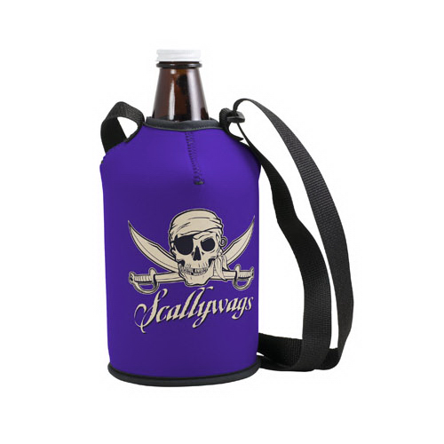Personalized Neoprene Growler Cover with Strap