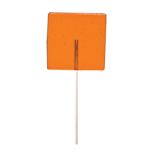 Promotional Orange Square Fun Size Price Buster Lollipop