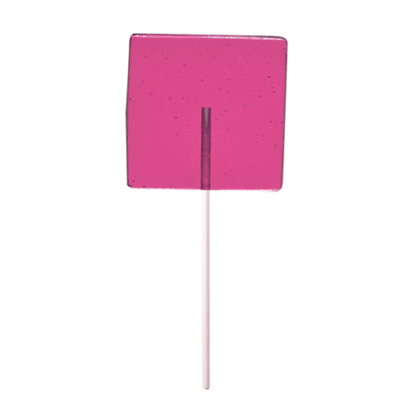 Promotional Pink Square Fun Size Price Buster Lollipop