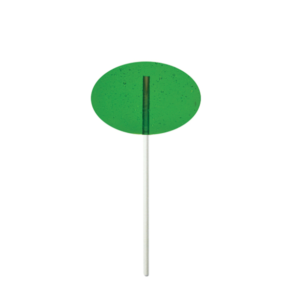 Custom Green Oval Fun Size Price Buster Lollipop