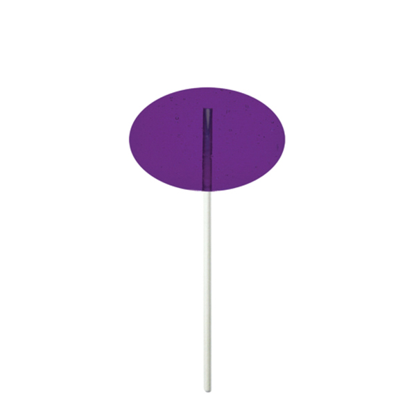 Personalized Purple Oval Fun Size Price Buster Lollipop