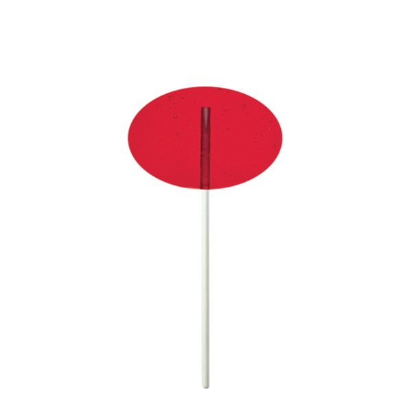 Printed Red Oval Fun Size Price Buster Lollipop