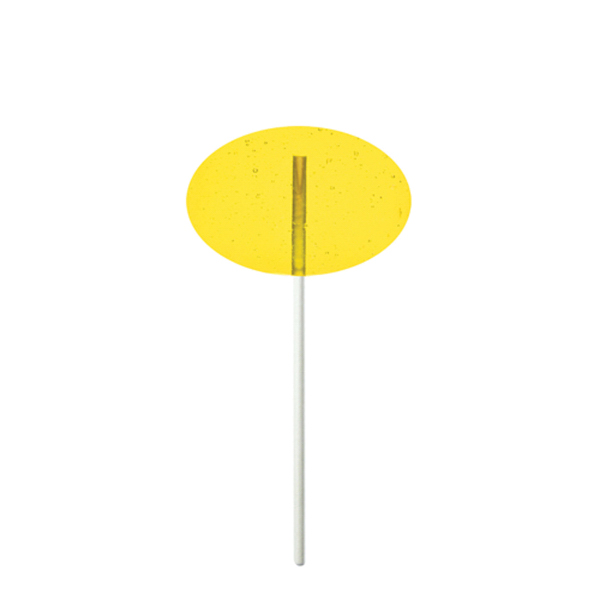 Promotional Yellow Oval Fun Size Price Buster Lollipop