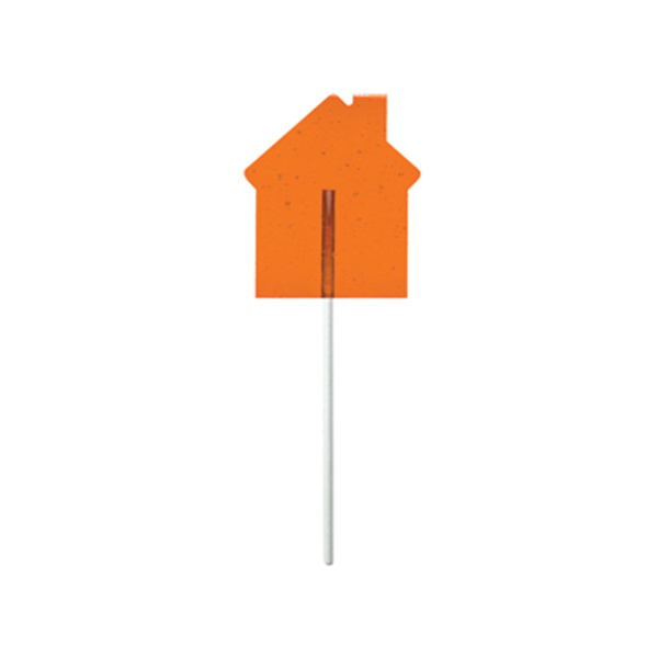 Customized Orange House Fun Size Price Buster Lollipop