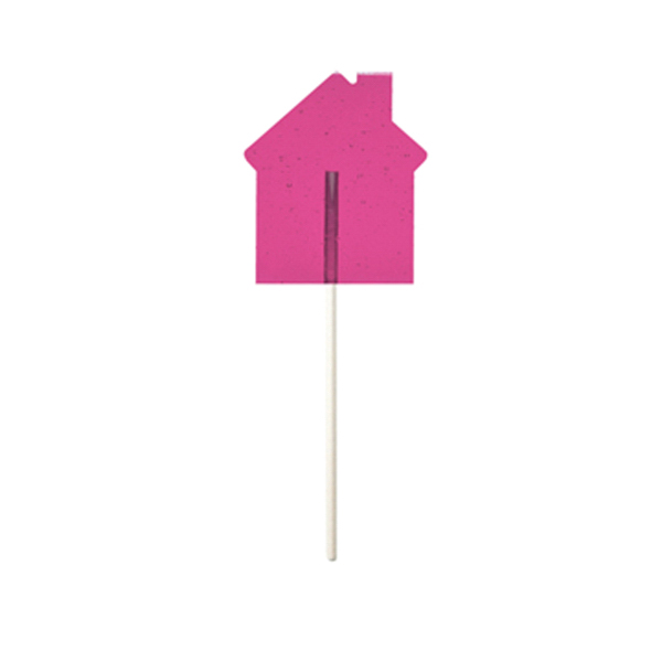 Printed Pink House Fun Size Price Buster Lollipop