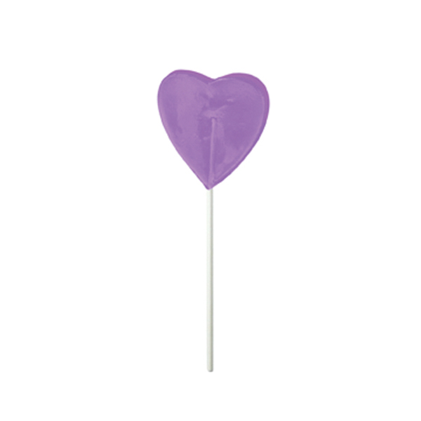 Personalized Purple Heart Fun Size Price Buster Lollipop