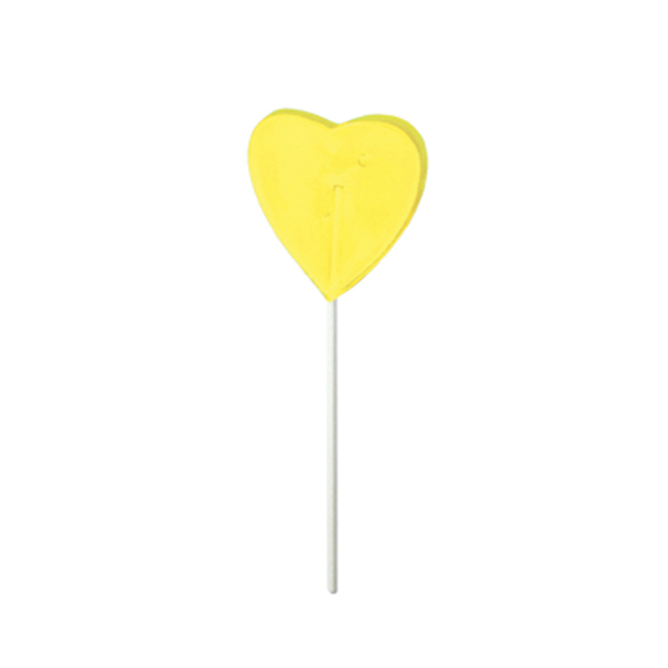 Customized Yellow Heart Fun Size Price Buster Lollipop