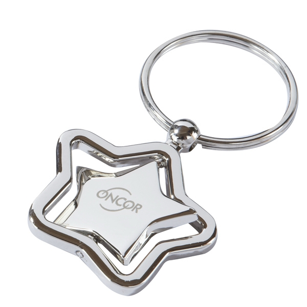 Personalized Spinning Star Keychain