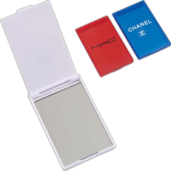 Imprinted Rectangle Compact Mirror