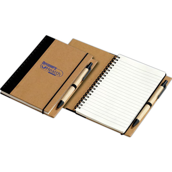 Printed Recycled Notebook with Pen