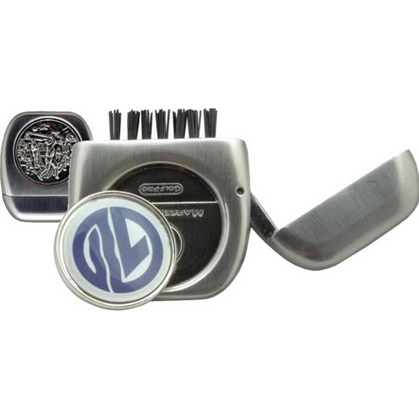 Imprinted Metal Flip Brush with Ball Marker