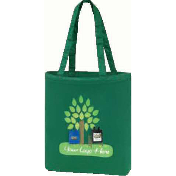 Imprinted An eGREEN Promotional Color Canvas Tote