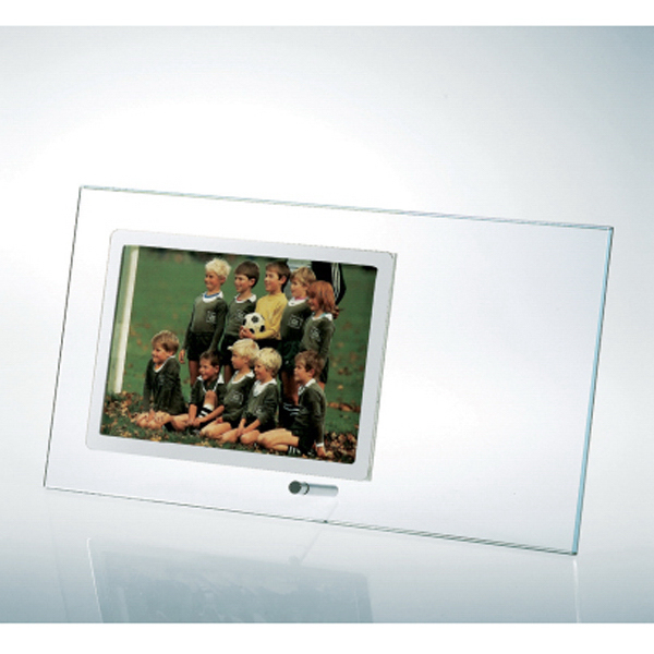 Promotional Starfire Clear Glass Horizontal Stainless Photo Frame