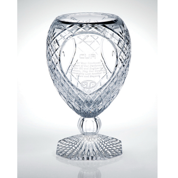 Imprinted Milano Italian Crystal Trophy