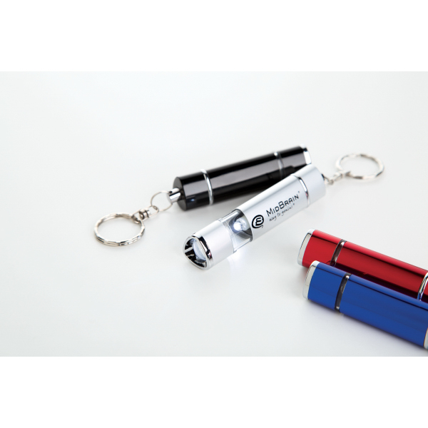 Promotional Aluminum flashlight with LED bulb