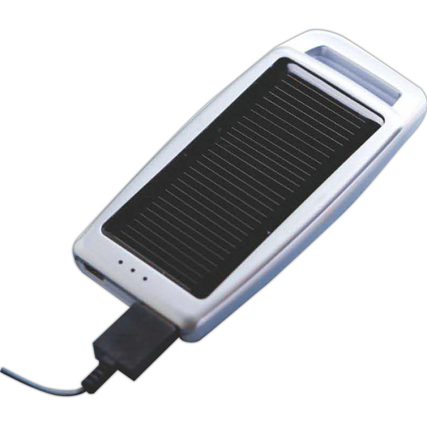 Personalized Dual Power (USB/Solar) Portable Battery Charger