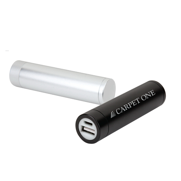Promotional 2200 mAh Tubular shaped portable battery charger