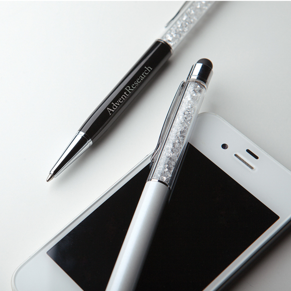 Imprinted Metal ballpoint pen with stylus