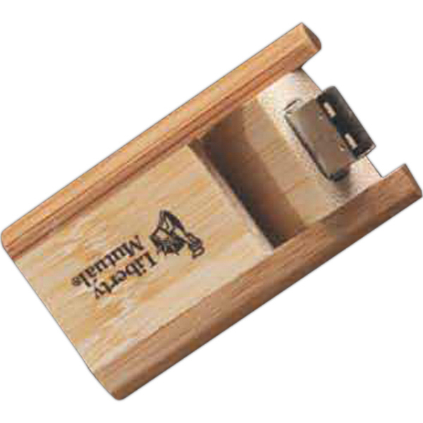 Imprinted Bamboo USB Flash Drive