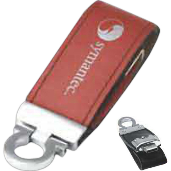 Imprinted USB Drive in Leather Case