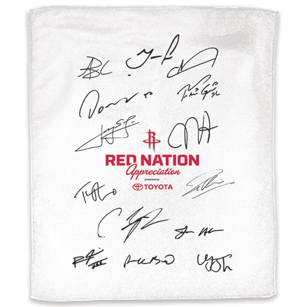 "Personalized 11"" x 18""  White Rally Towel"