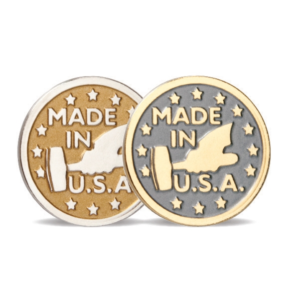 Custom Satin Finish Die Struck Pin