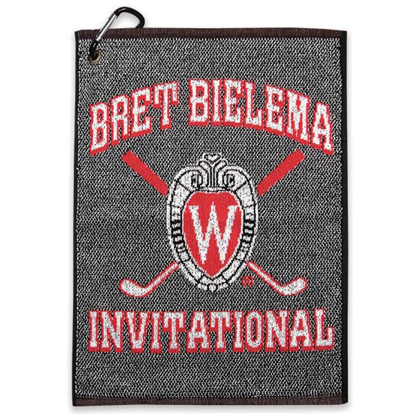 "Customized Jacquard Golf Towel 16"" x 26"""